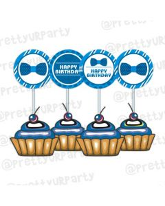 Bow Tie Cupcake Toppers