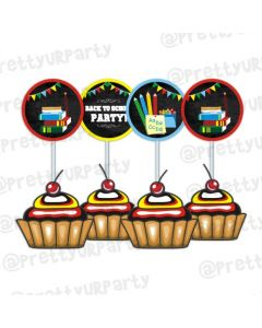 Back to School cupcake / food toppers