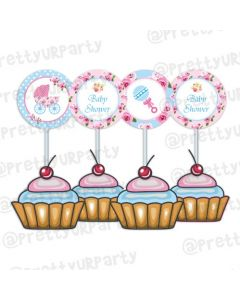 Shabby Chic Cupcake / Food Toppers