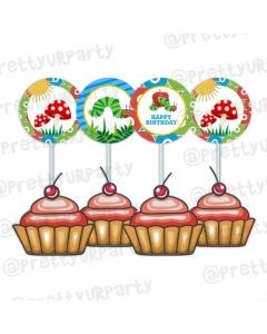 The Hungry Caterpillar Cupcake / Food Toppers
