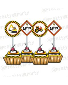 New Construction Theme Cupake / Food Toppers