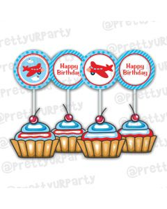 Airlines Cupcake Toppers