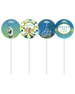 Frozen Fever Cupcake / Food Toppers