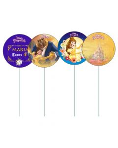 Belle Cupcake / Food Toppers