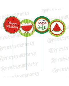 Watermelon Theme Cupcake / Food Toppers