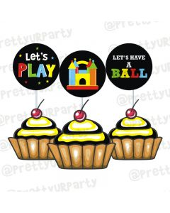Ball Theme Cupcake / Food Toppers