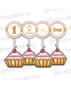 Royal Princess Cupcake Toppers