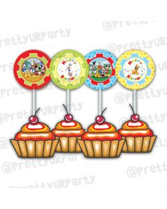 Mickey Mouse club house Inspired Cupcake Toppers