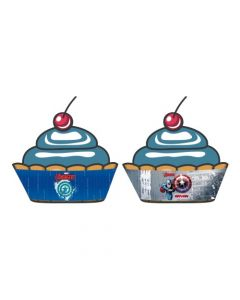 Captain America Cupcake Wrappers