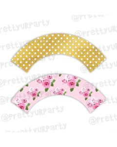 Tea Party Cupcake Wrappers
