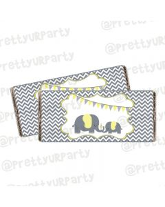 Elephant Baby shower Chocolate Wrappers
