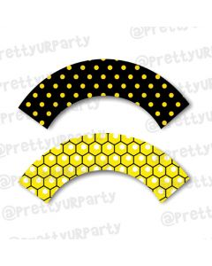 Bumble Bee Cupcake Wrappers