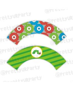 The Hungry Caterpillar Cupcake Wrappers