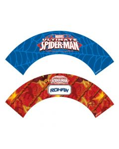Spiderman cupcake wrappers