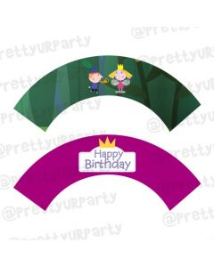 Ben and Holly's Little Kingdom Theme Cupcake Wrappers