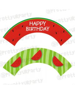 Watermelon Theme Cupcake Wrappers
