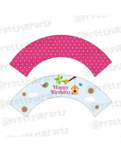 Little Bird Theme Cupcake Wrappers