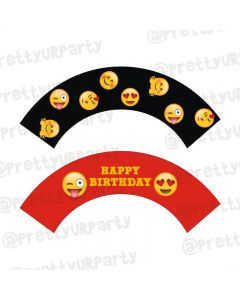 Emoji Theme Cupcake Wrappers