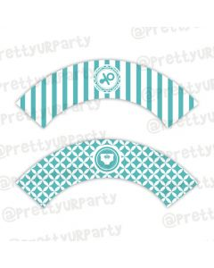 Tiffany Baby Shower Cupcake Wrappers