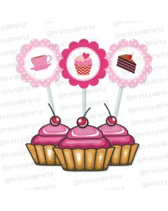 cupcake theme cupcake / food toppers