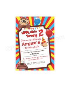 Curious George E-Invitations
