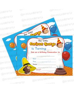 curious george theme invitations