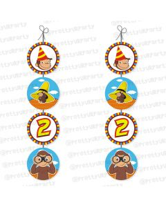 curious george theme danglers