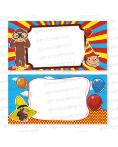 Curious George Theme  / Buffet Table Cards