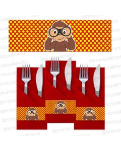 curious george theme  napkin rings