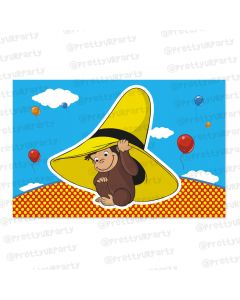curious george theme  table mats