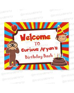 Curious George Theme Entrance Banner / Door Sign