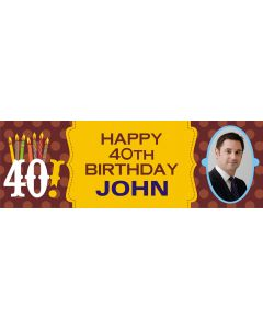 40th Birthday personalised Banner