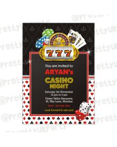Casino Night Theme E-Invitations