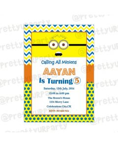 Despicable Me Minions E-Invitations