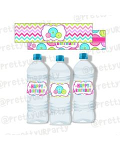 Cute As a Button Water Bottle Labels