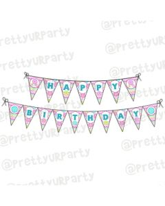 Cute As a Button Theme Bunting