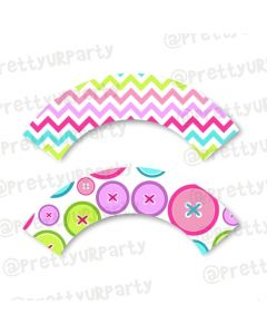 Cute As a Button Cupcake Wrappers