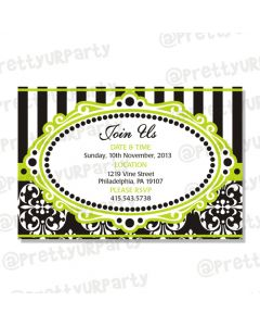 elegant damask invitations