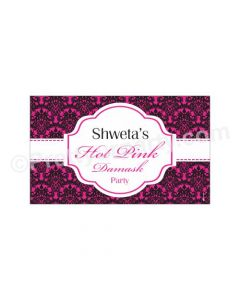 Hot Pink Damask Theme Backdrop