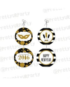 Gold and Black New Year Danglers