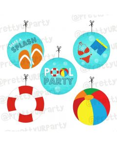 Splash Pool Party Theme Danglers