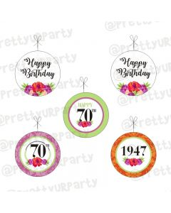 70th Birthday Theme Danglers