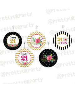 21st Birthday Theme Danglers