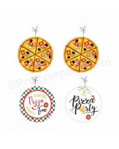 Pizza Party Theme Danglers