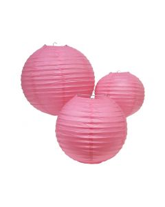 Pink Round Paper Lamps