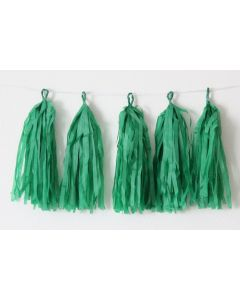 Dark Green Tassel Garland