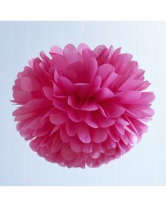 Light Pink Tissue Paper Pom Poms 16""