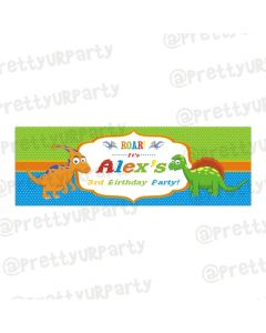 Personalized Dinosaur Birthday Banner 36in