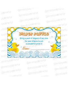 Rubber duck Diaper raffle Tickets