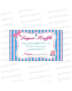 pink & blue Diaper raffle Tickets